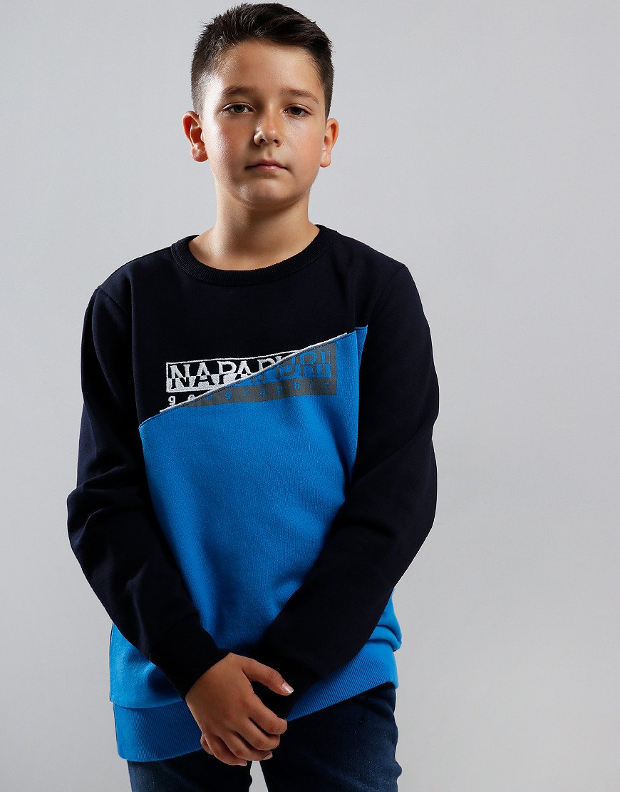 Napapijri Kids Baky Crew Neck Sweat Blu Marine