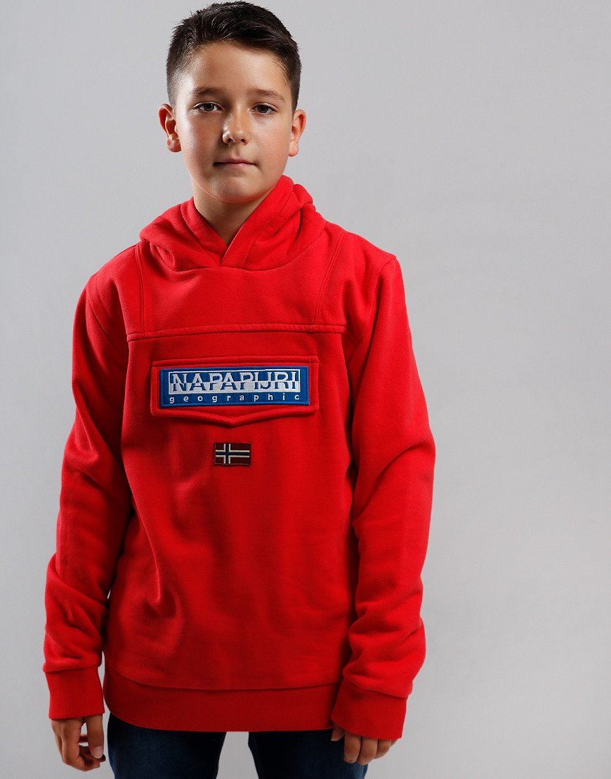 Napapijri Kids Burgee Hoodie High Risk Red