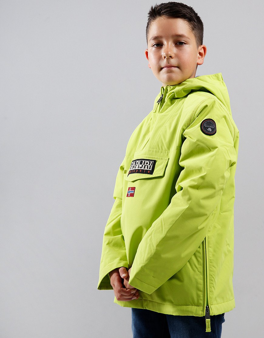 Napapijri Kids Rainforest Winter Jacket Yellow Lime