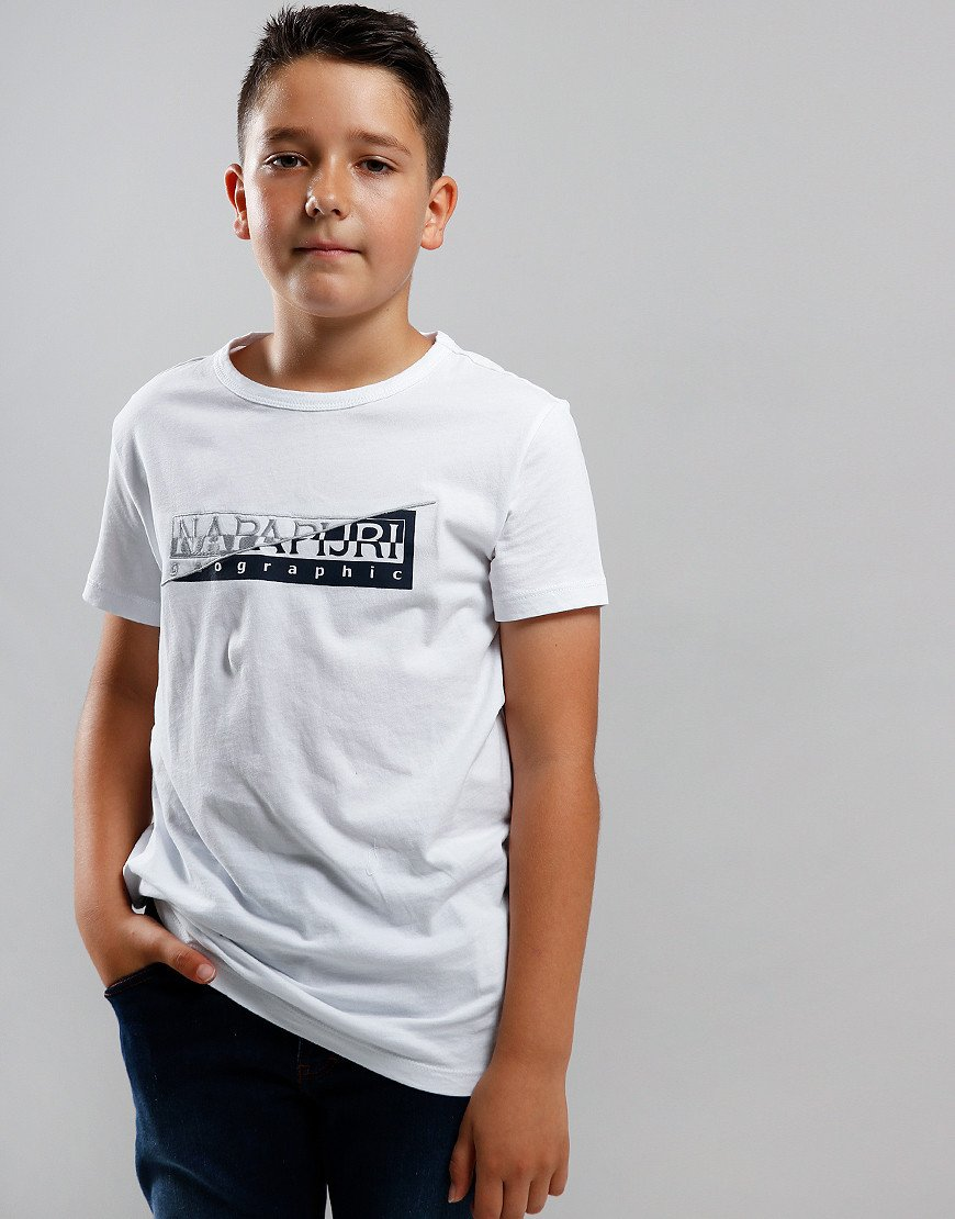 Napapijri Kids Saky T-Shirt Bright White