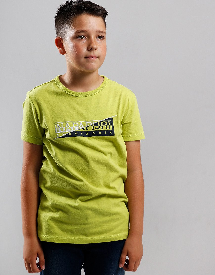 Napapijri Kids Saky T-Shirt Yellow Lime