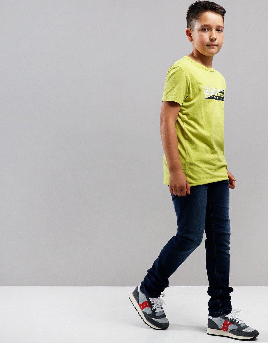 Napapijri Kids Saky T-Shirt Yellow Lime