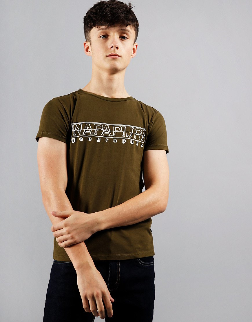 Napapijri Kids Soli T-Shirt Green Way