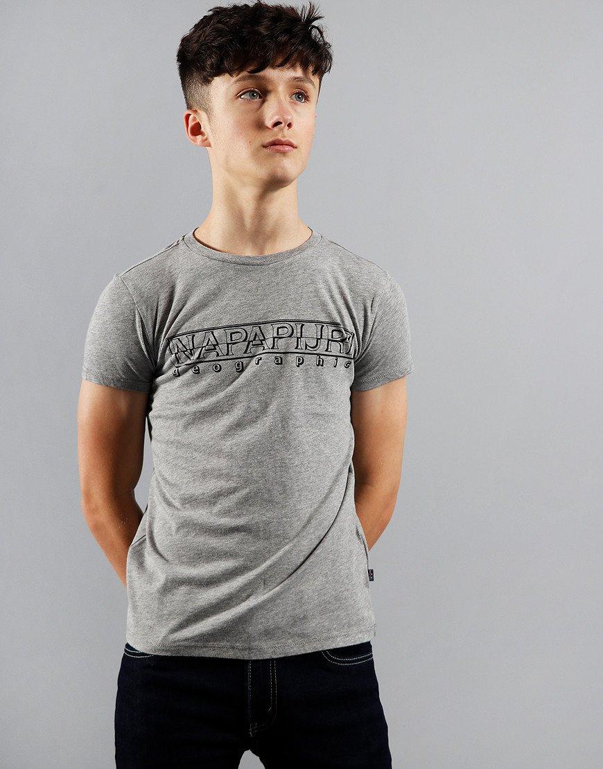 Napapijri Kids Soli T-Shirt Medium Grey Melange