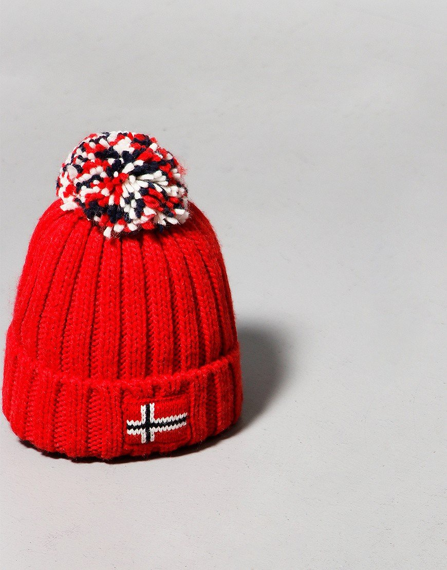 Napapijri Kids Semiury 4 Bobble Hat Red Tango