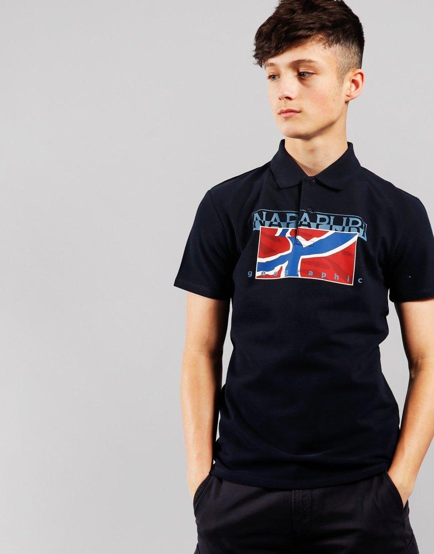 Napapjri Kids Eally Polo Shirt Blu Marine