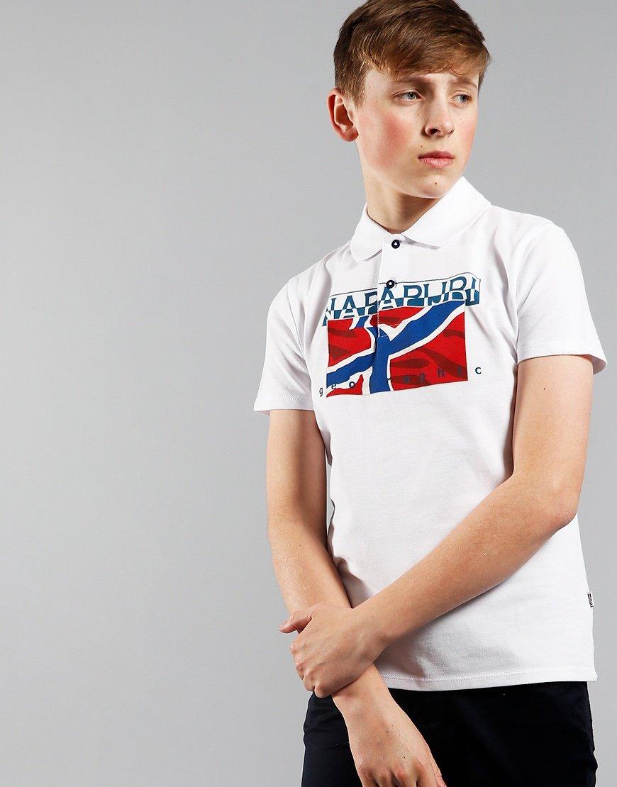 Napapjri Kids Eally Polo Shirt White