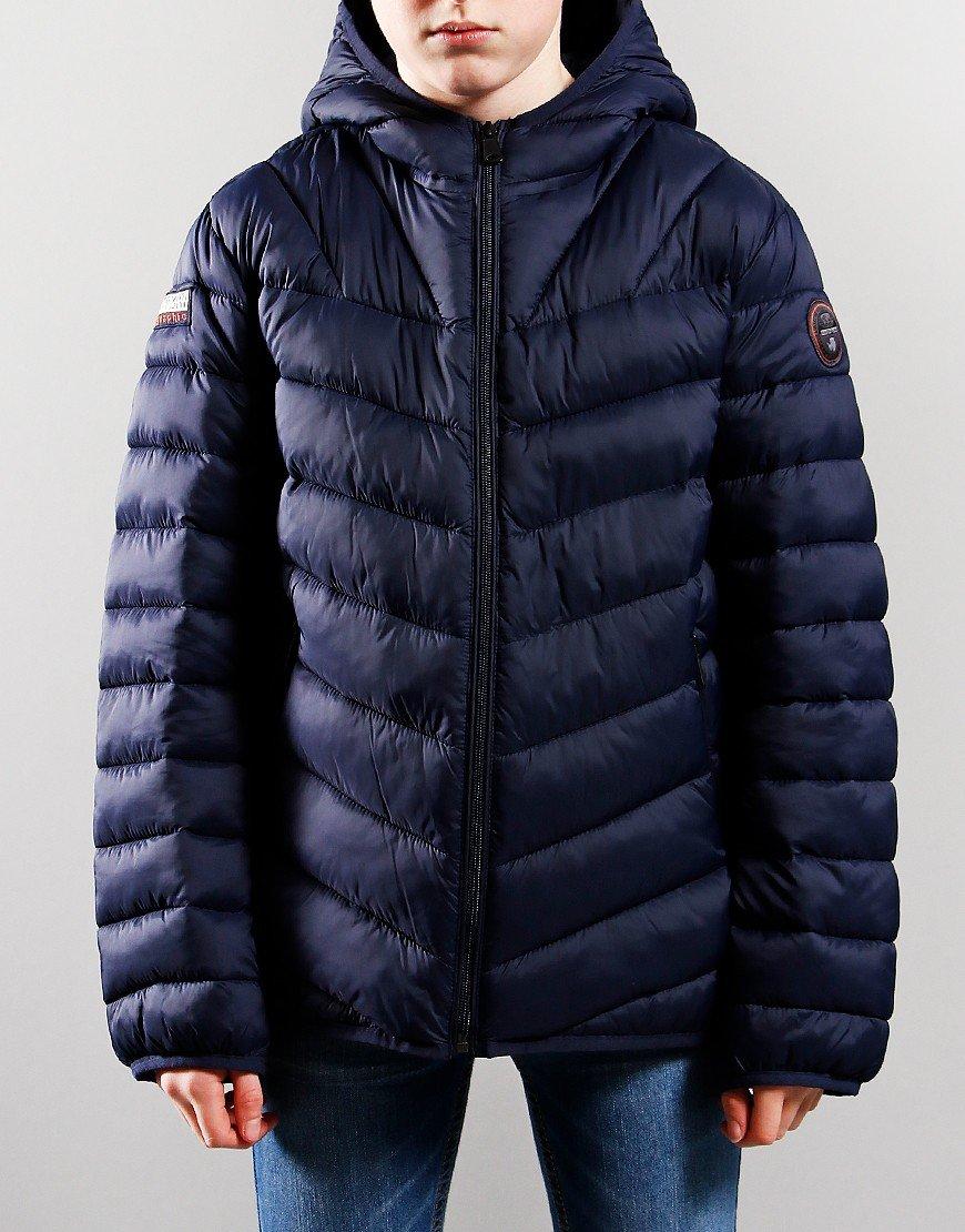 Napapijri Kids Aerons Hooded Jacket Blu Marine