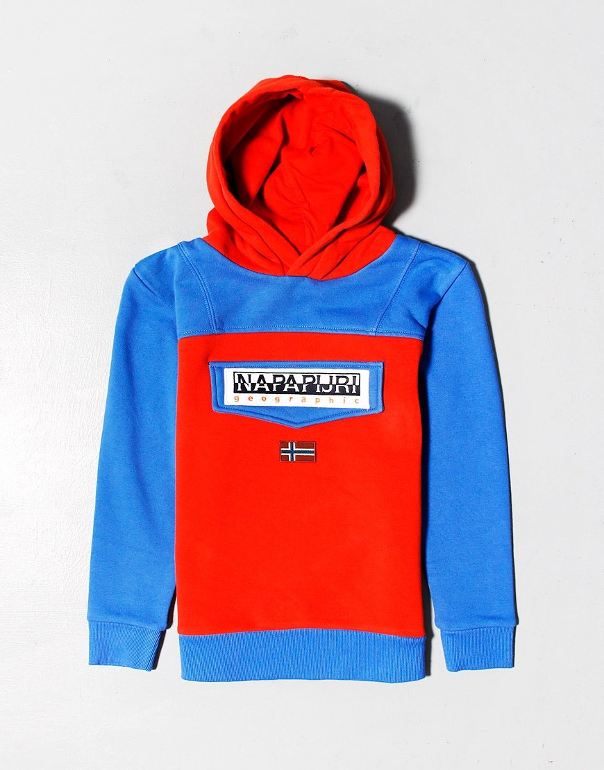 Napapijri Kids Burgee Hoodie Orange Clay