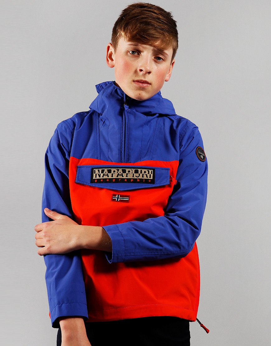 Napapijri Kids Colour Block Summer Rainforest Jacket Orangeade