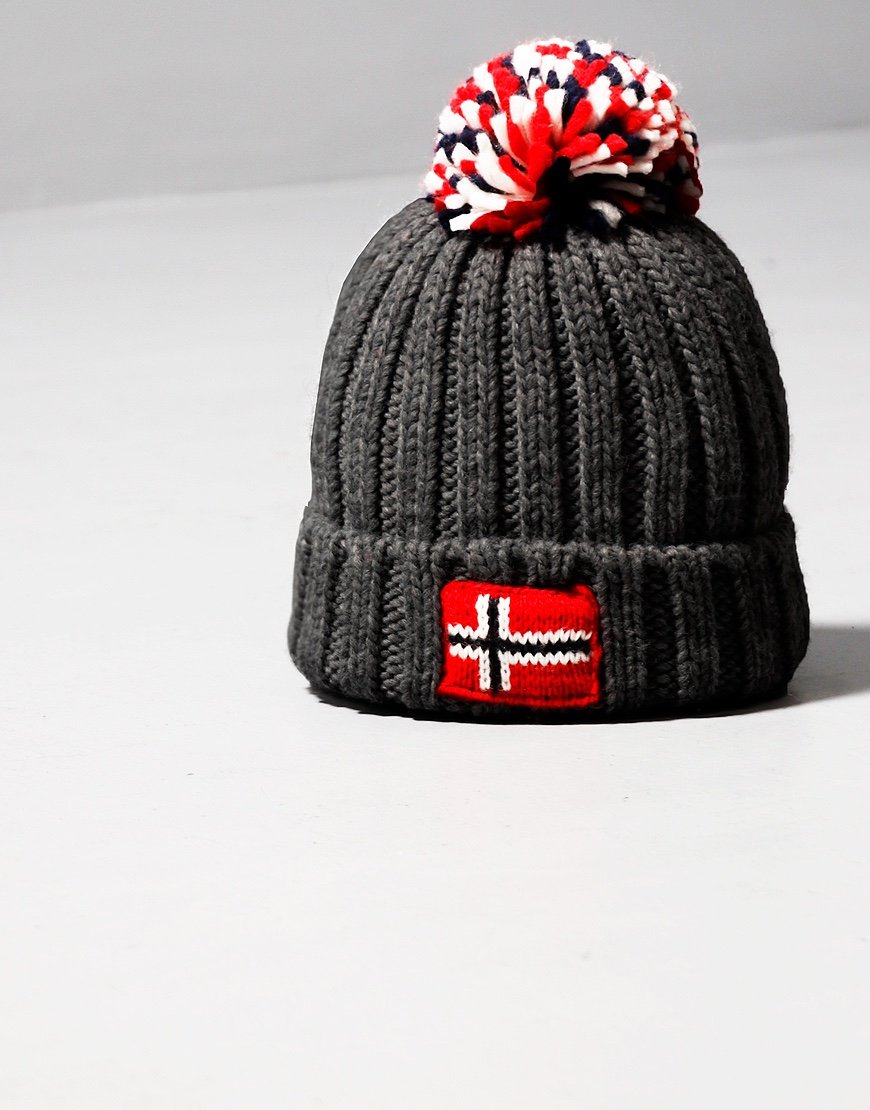 Napapijri Kids Semiury Bobble Hat Dark Grey Melange