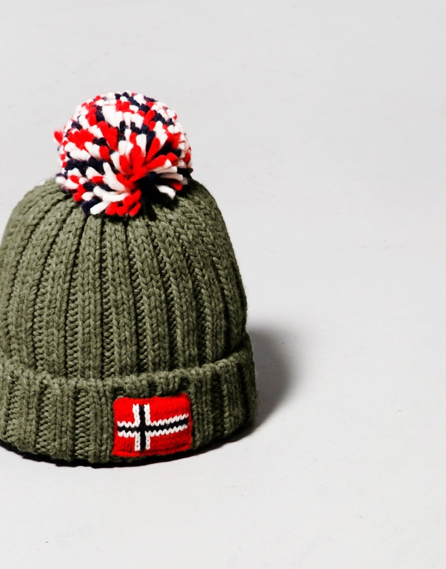 Napapijri Kids Semiury 4 Bobble Hat Green Depths