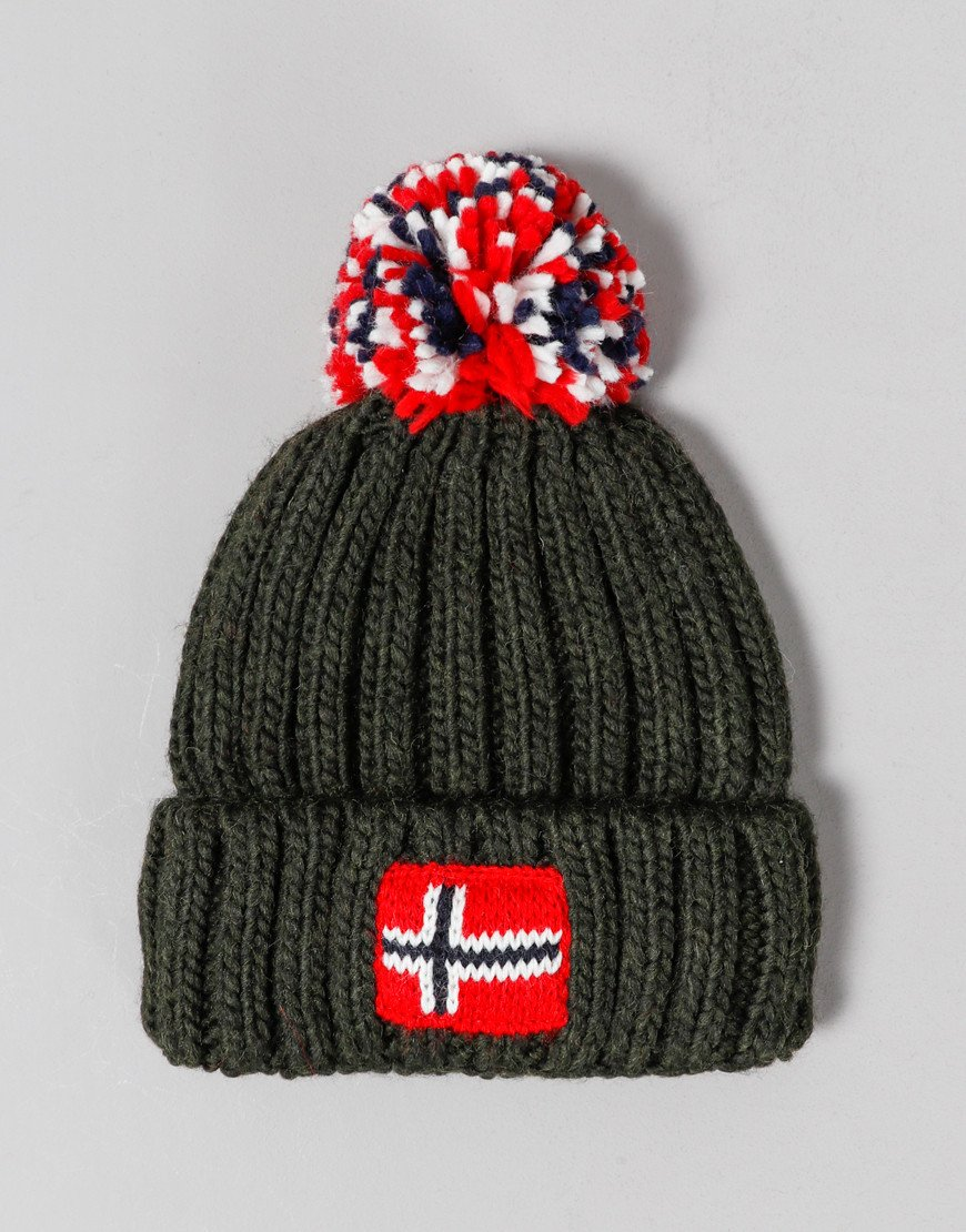 Napapijri Kids Semiury Bobble Hat Green Forest