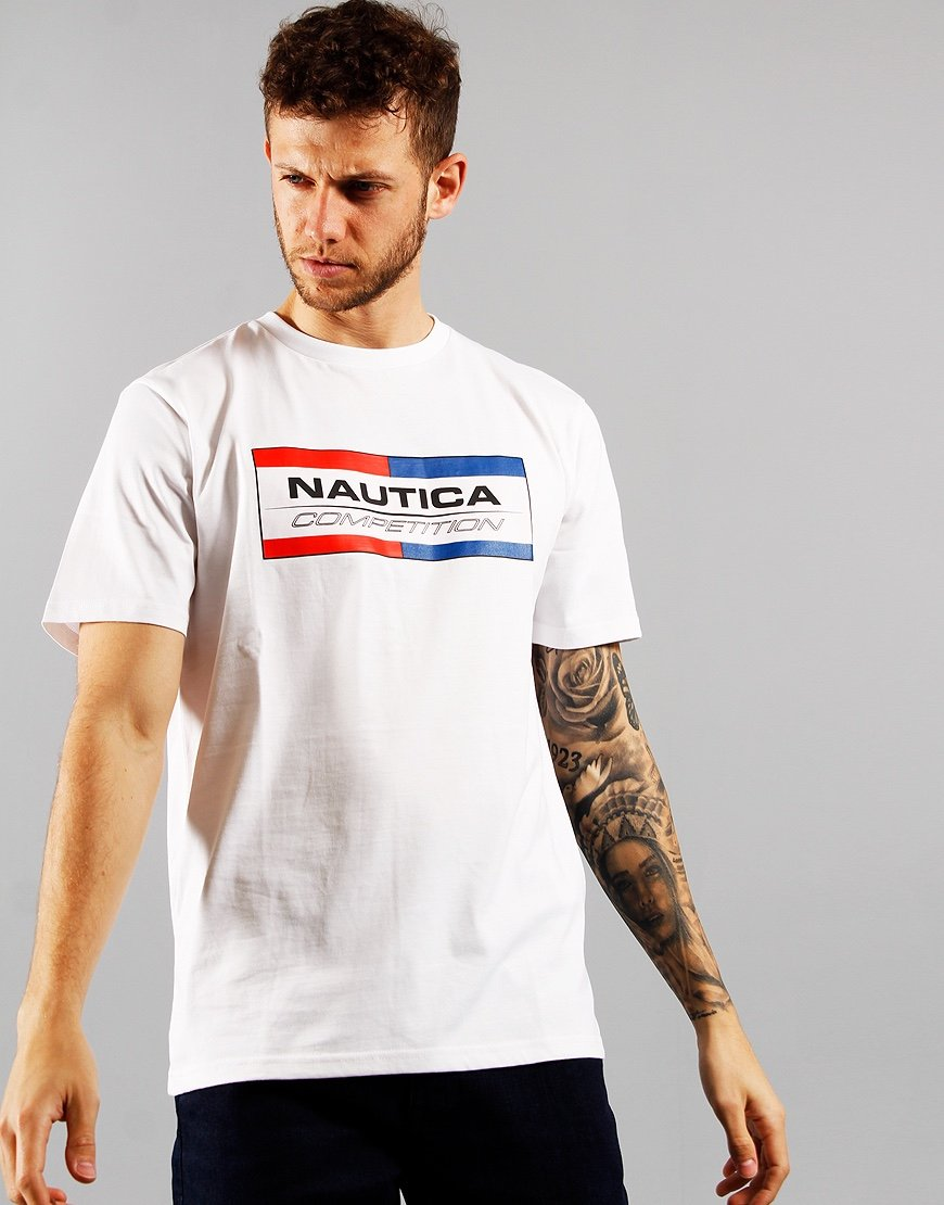 Nautica Competition Halyeard Print T-shirt White