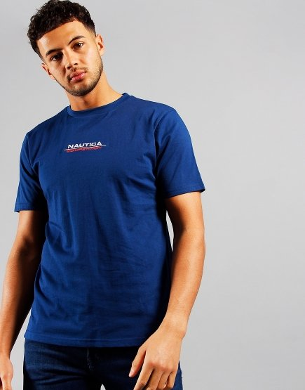 Nautica Herman Back Print T-shirt Navy