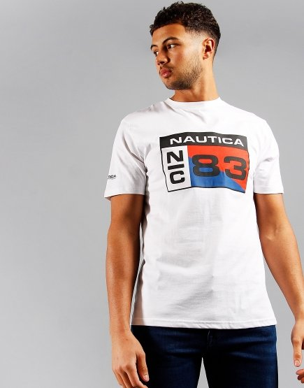 Nautica Lagan Print T-shirt White