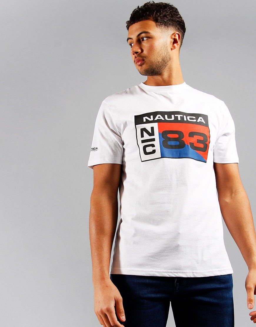 Nautica Competition Lagan Print T-shirt White