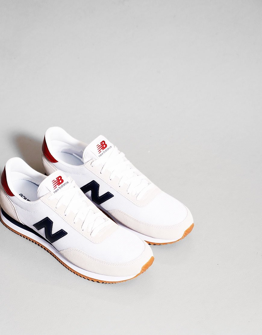 New Balance 720 Trainers White/Navy Blue