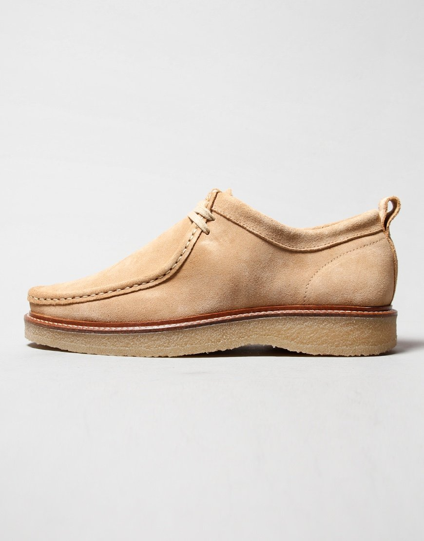 Nicholas Deakins Bowling Shoe Sand Suede