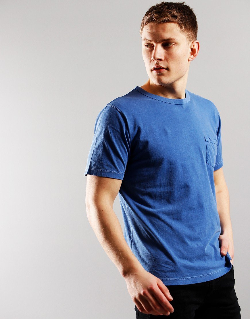 Nigel Cabourn Crew T-Shirt Washed Blue