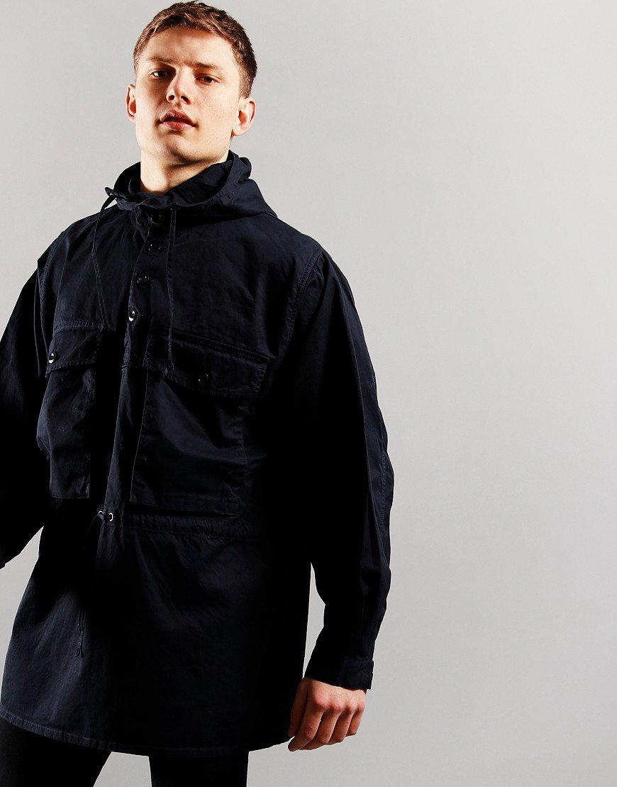 Nigel Cabourn Track Smock Jacket Black Navy