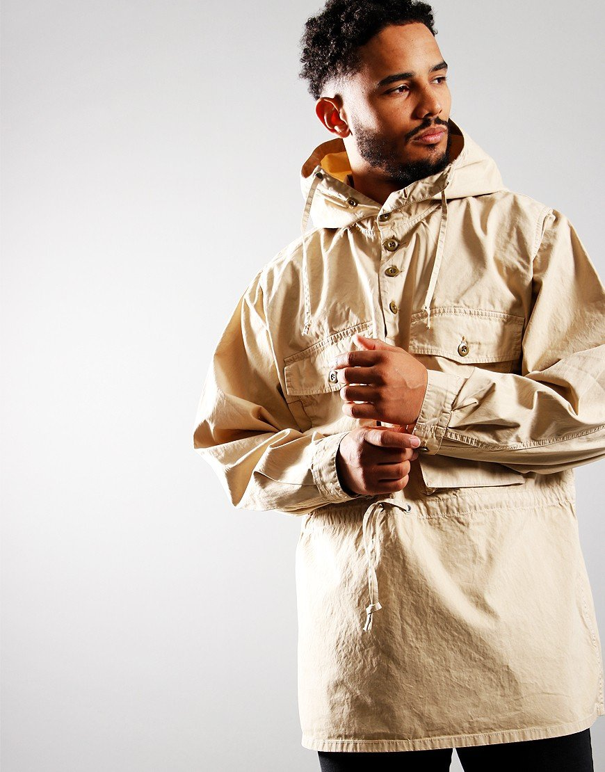 Nigel Cabourn Track Smock Jacket Off White