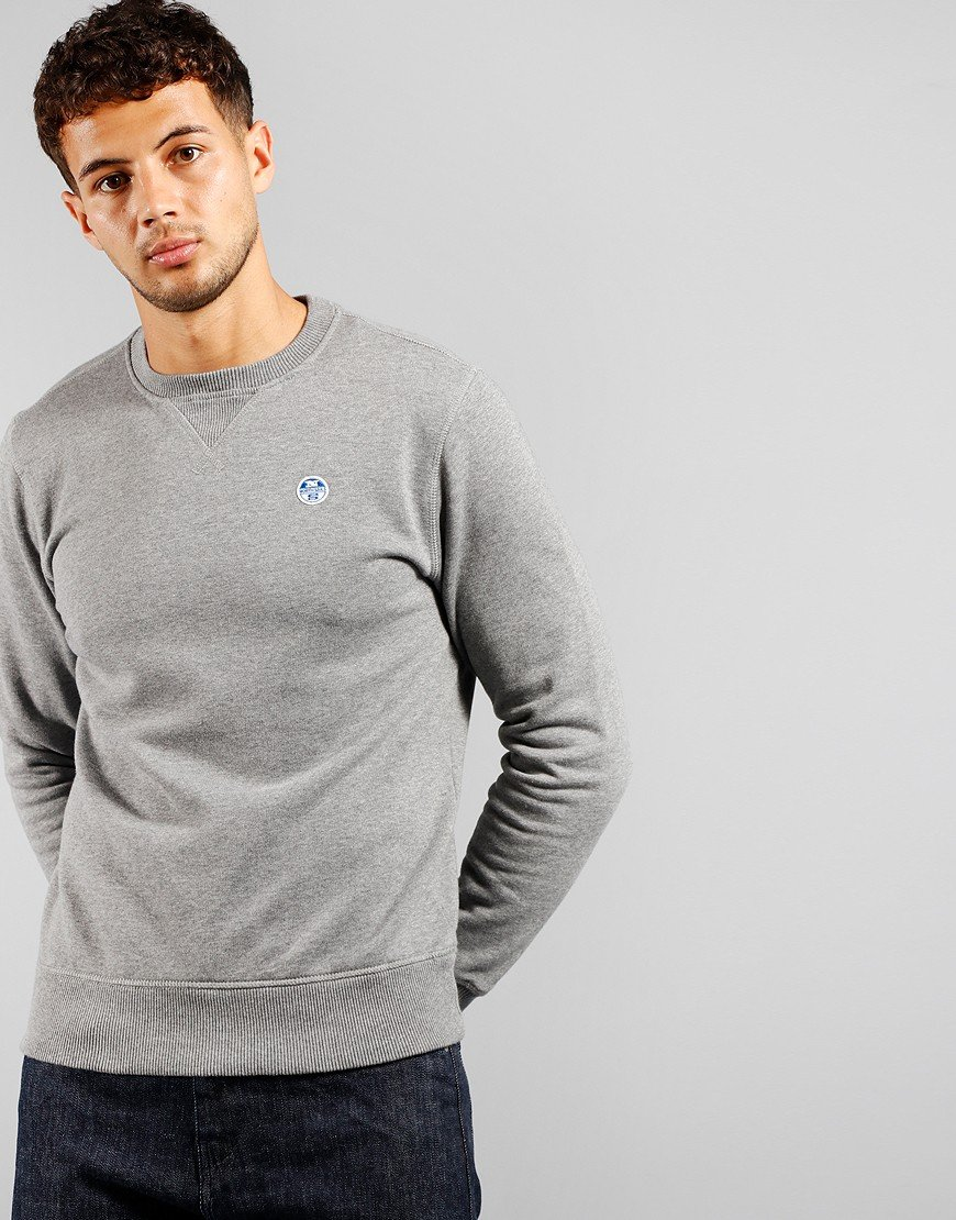 North Sails Crew Sweat Medium Grey Marl