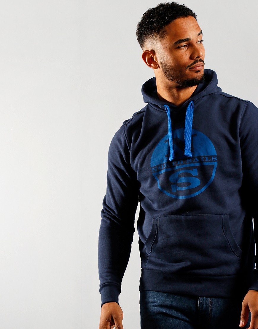 North Sails Graphic Hoodie Navy Blue