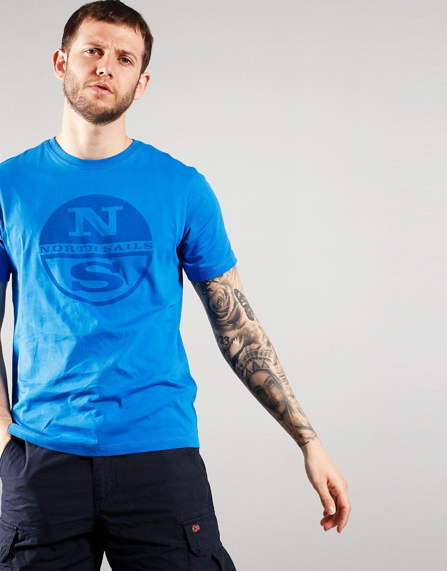 North Sails Graphic Print T-Shirt Royal Blue