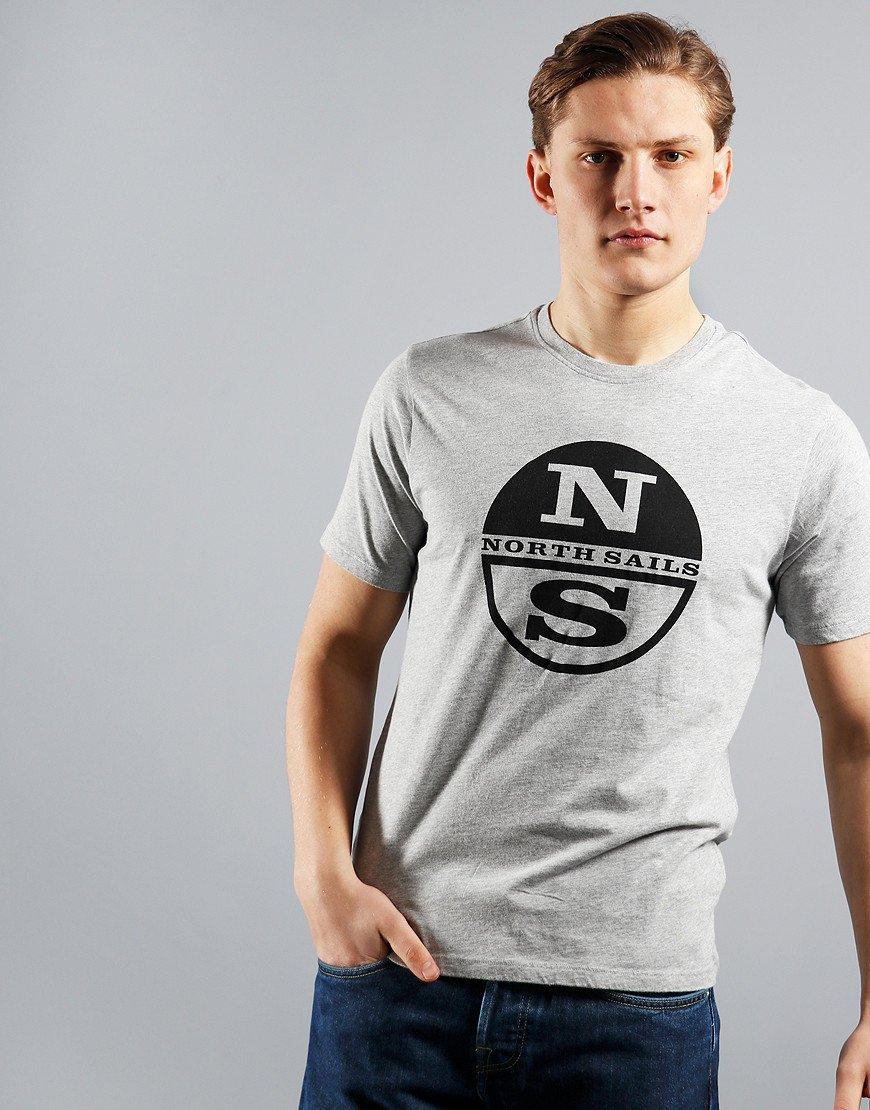 North Sails Graphic T-Shirt Grey Melange
