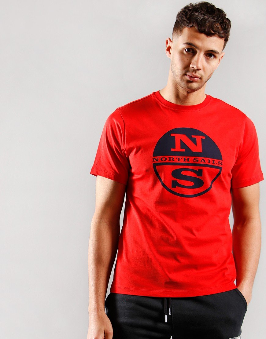 North Sails Graphic Print T-Shirt Red