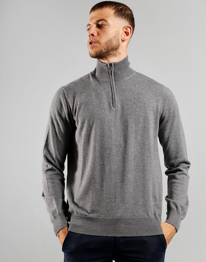North Sails Half Zip Knit Medium Grey Marl
