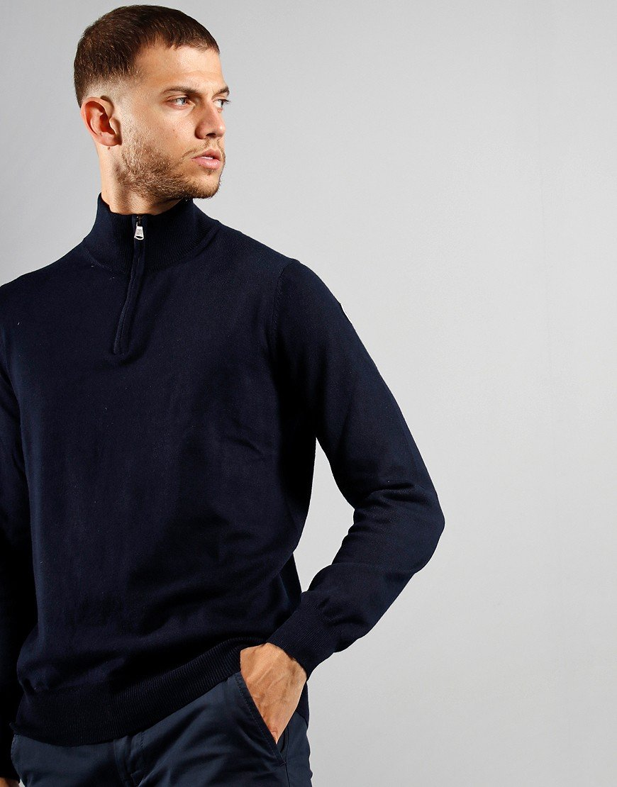 North Sails Half Zip Knit Medium Navy