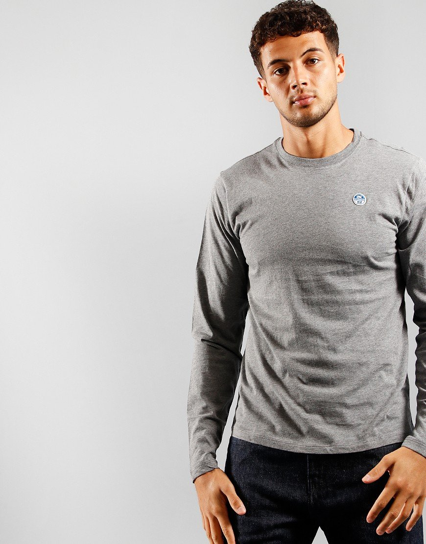 North Sails Long Sleeve T-Shirt Medium Grey Marl