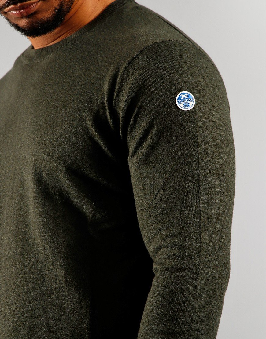 North Sails Round Neck Knitwear Forest Green
