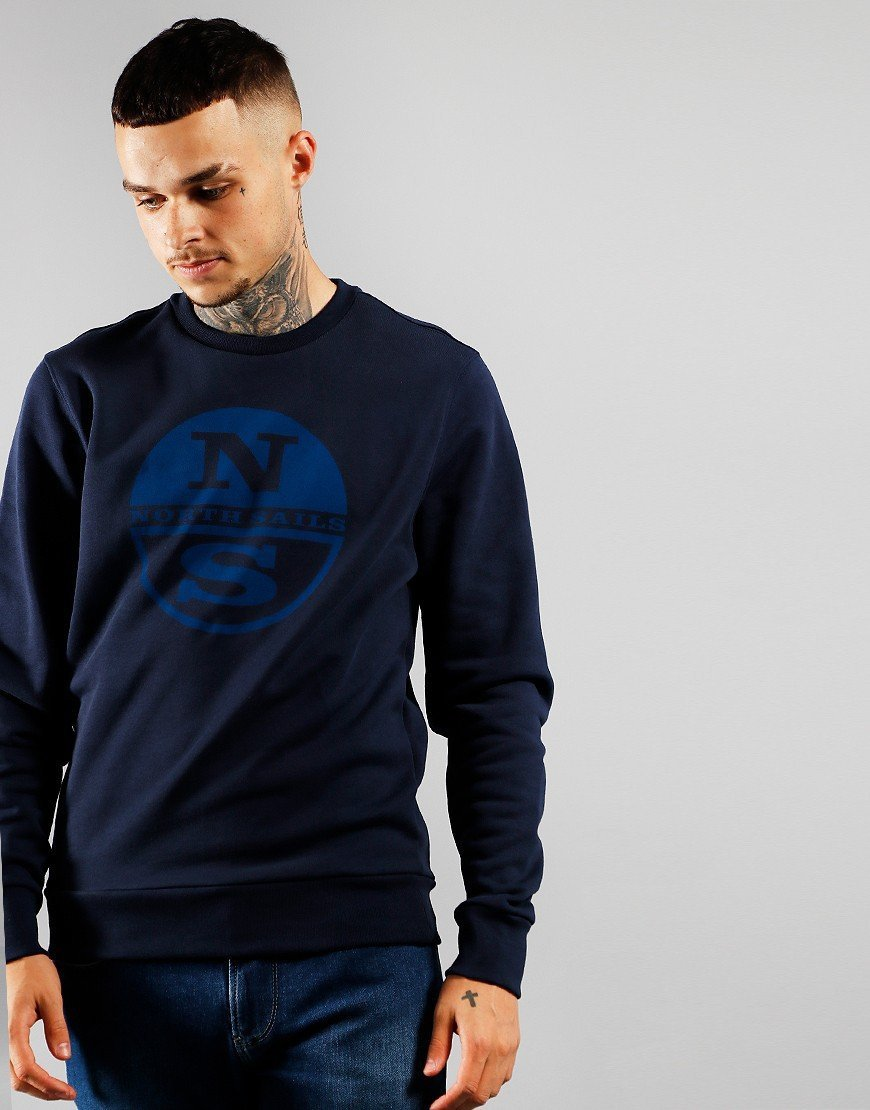 North Sails Graphic Crew Sweat Navy