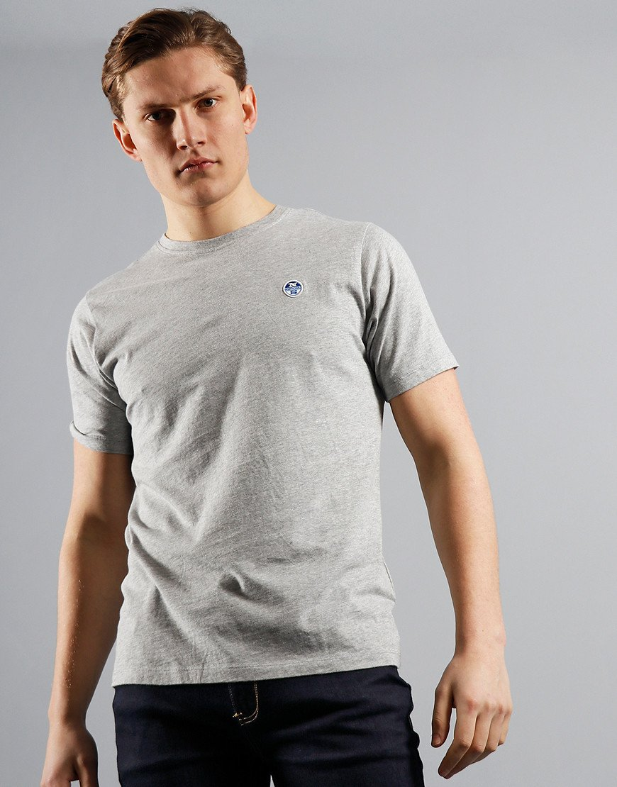North Sails Plain T-Shirt Grey Melange