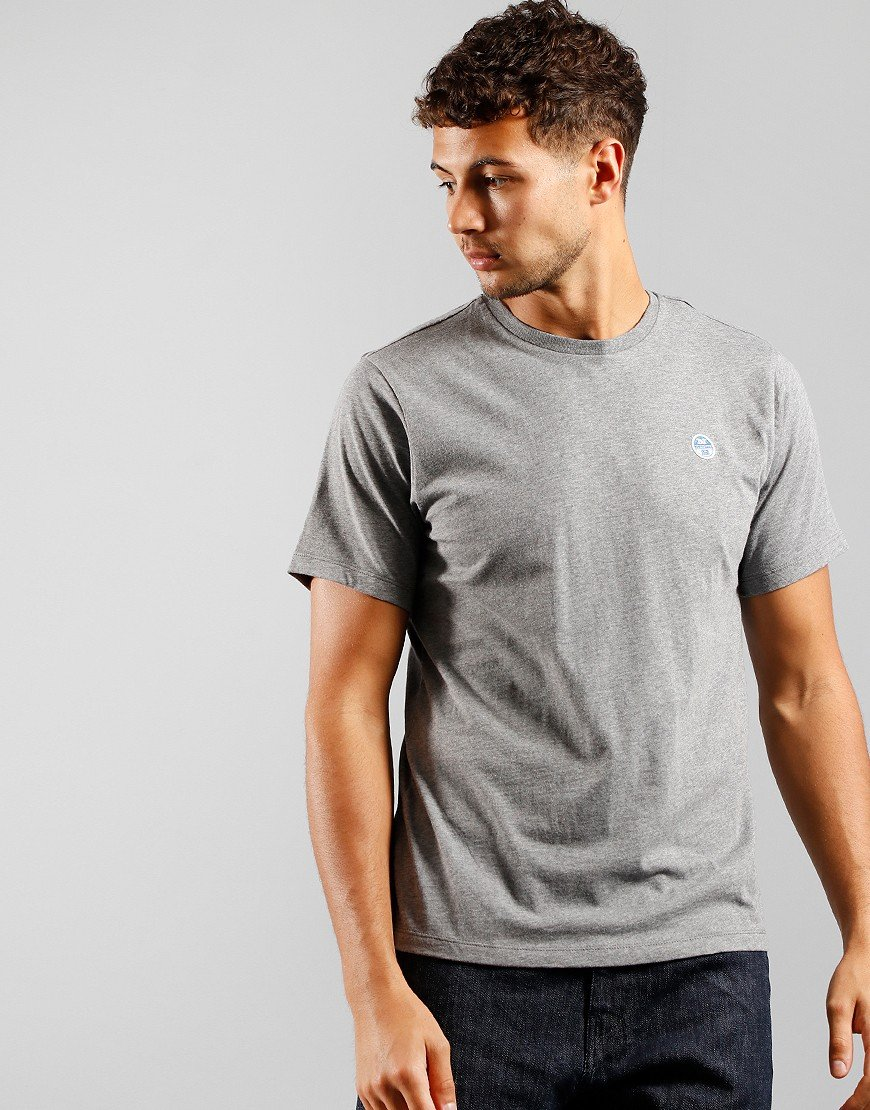 North Sails Plain T-Shirt Med Grey Marl