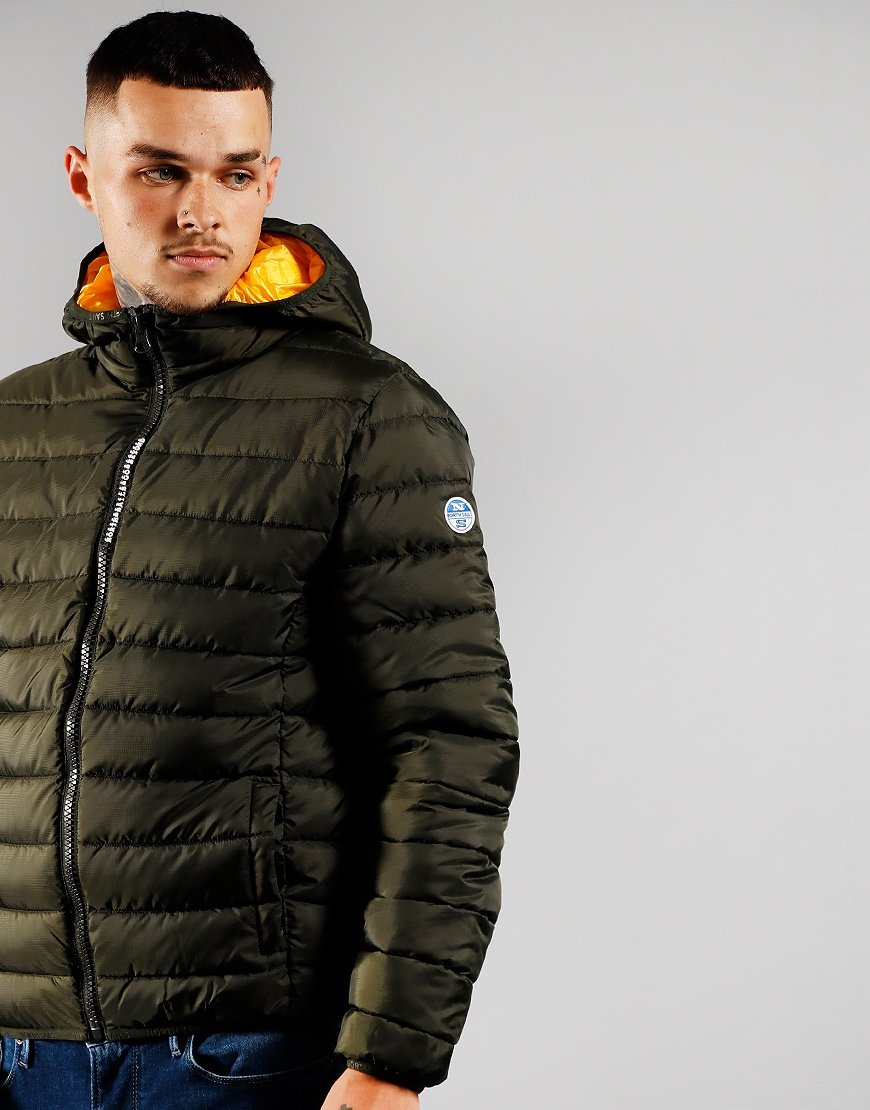 North Sails Skye 2 Hooded Puffer Jacket Forest