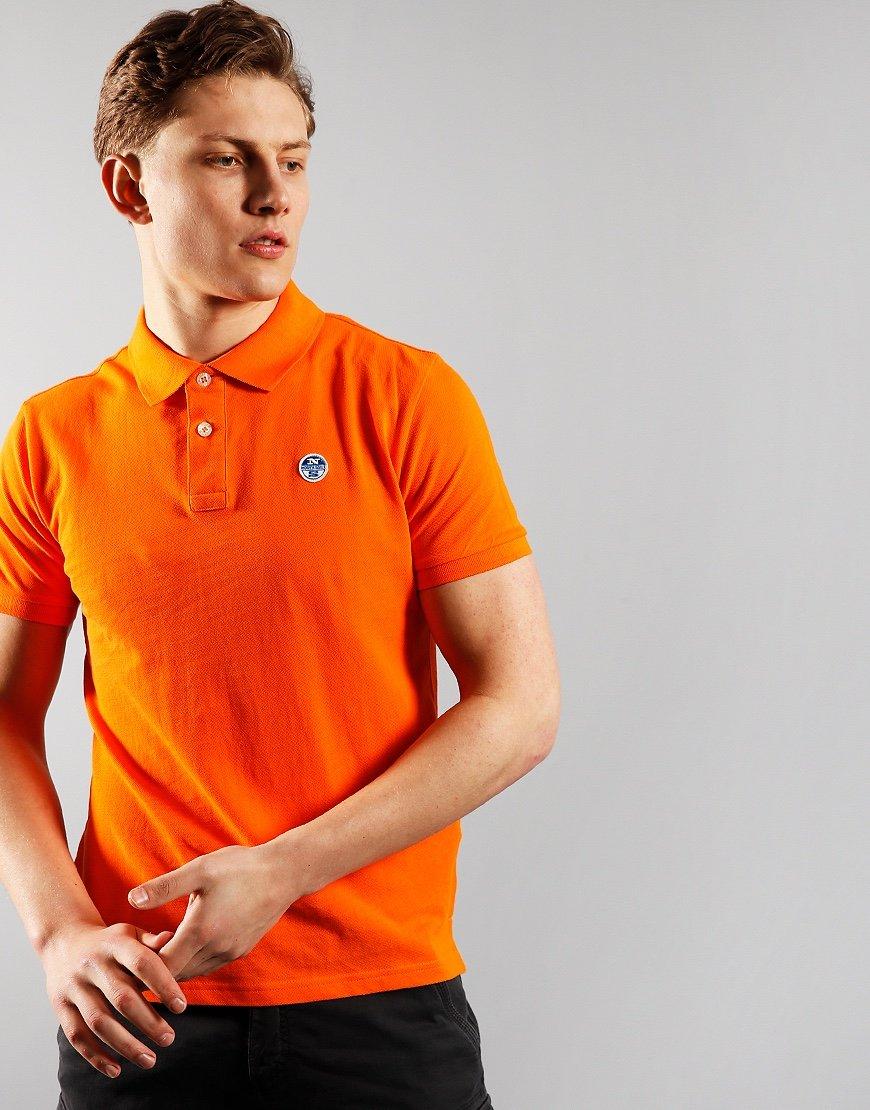 North Sails Polo Shirt Vibrant Orange