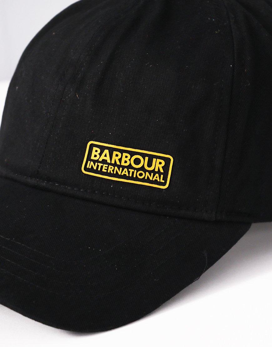 Barbour International Norton Drill Cap Black - Terraces Menswear 33e84bf1ecb7