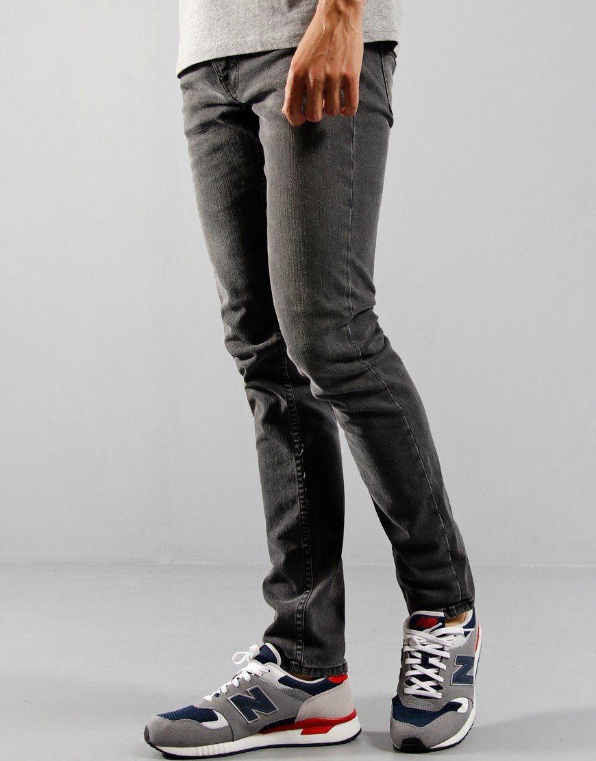 Nudie Lean Dean Mono Grey