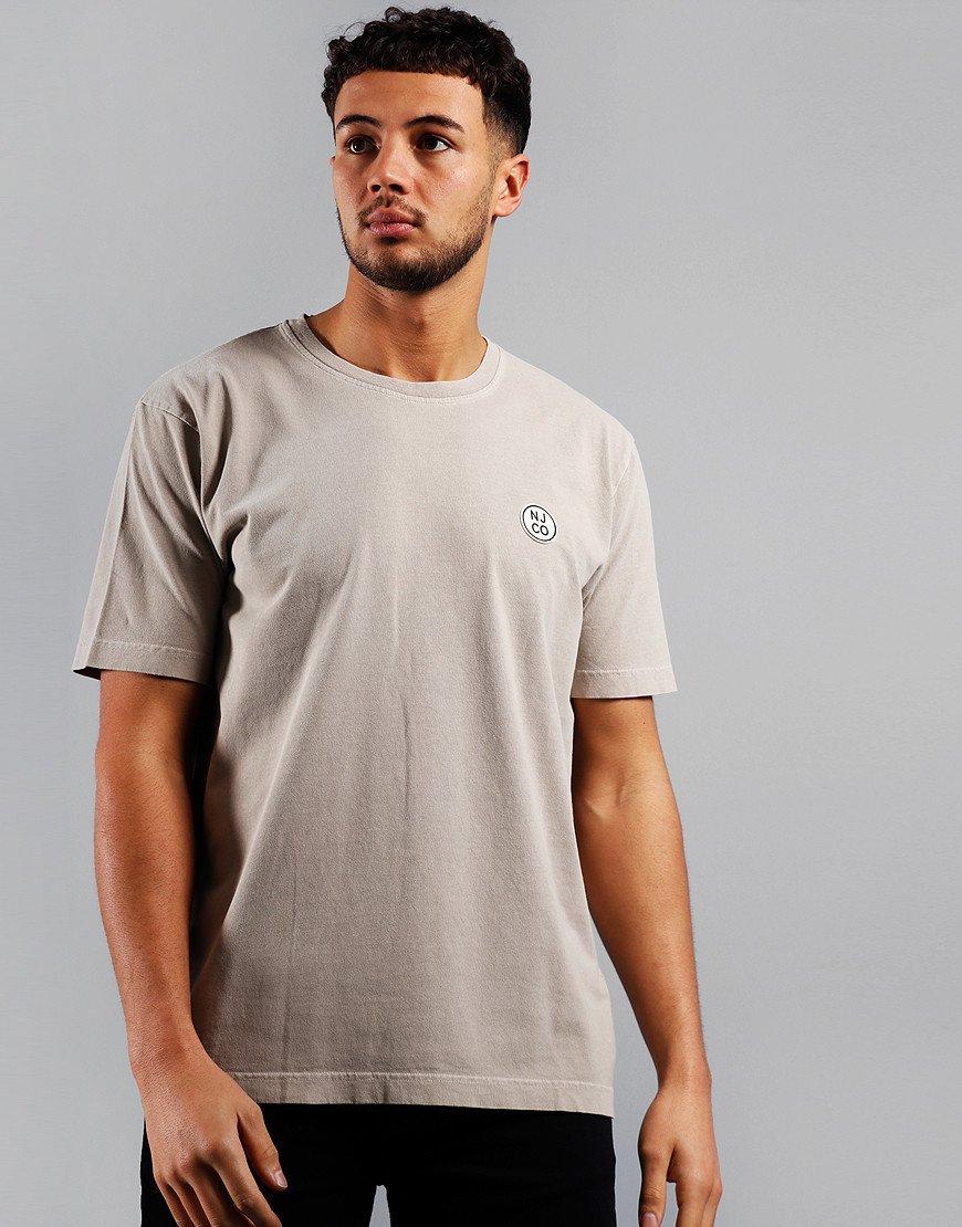 Nudie Uno NJCO Circle Logo T-Shirt Beige