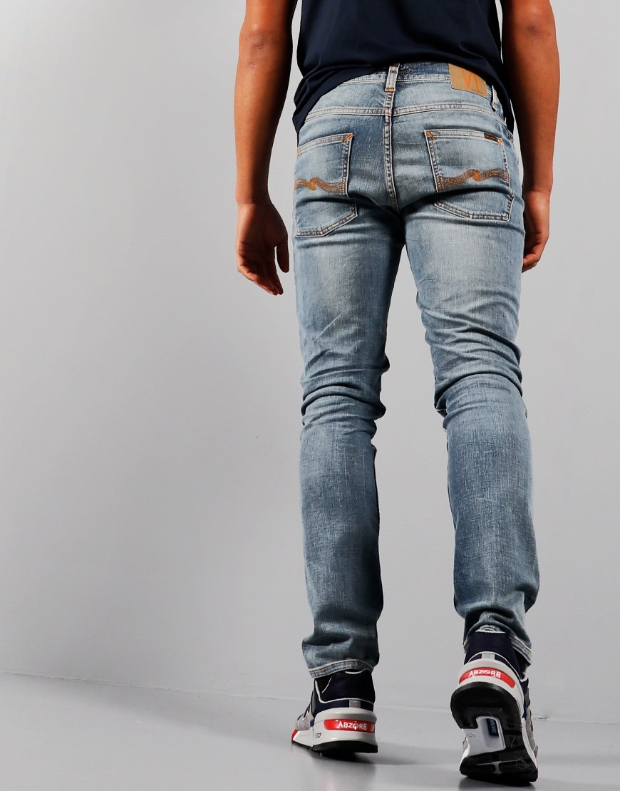 Nudie Lean Dean Slim Fit Jeans Broken Sage
