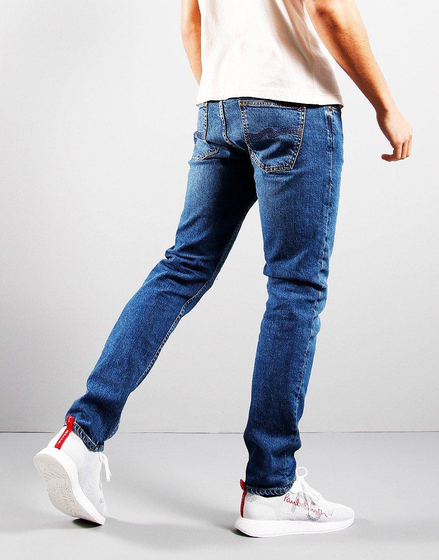 Nudie Lean Dean Slim Fit Jeans Blue Vibes