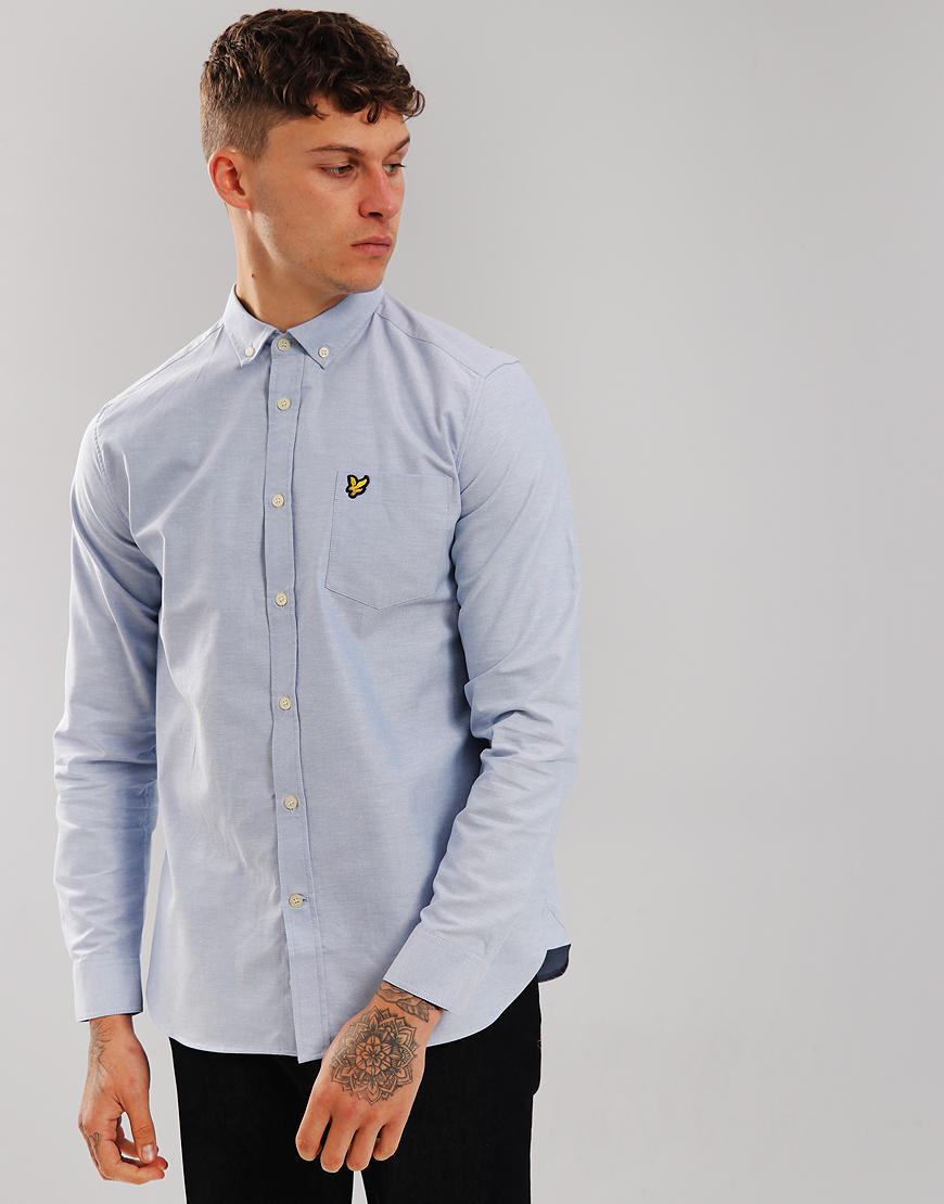 Lyle & Scott Long Sleeved Oxford Shirt  Riviera