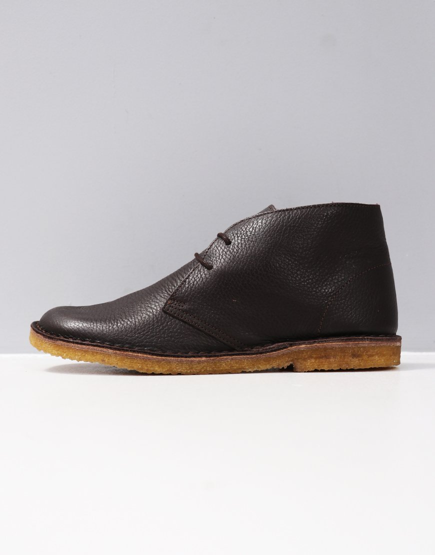 Pretty Green Leather Desert Boot Chocolate