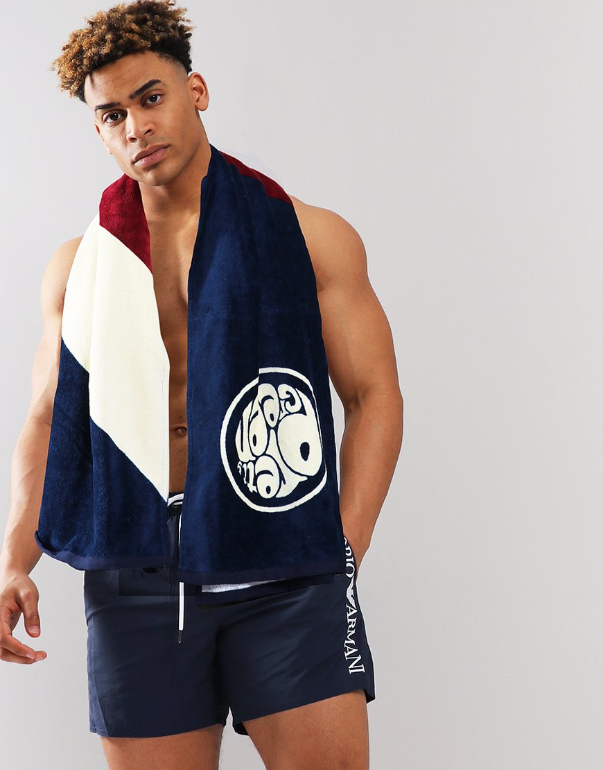 Pretty Green Retro Towel Navy