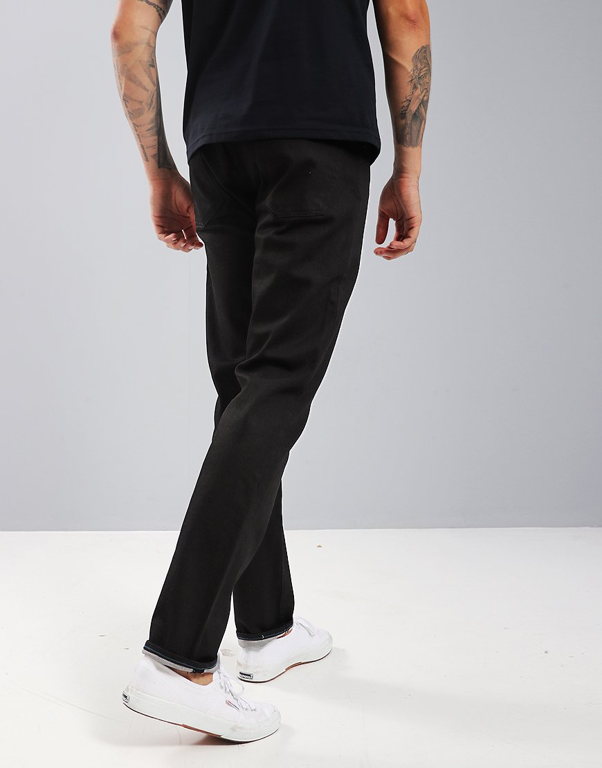 Paul Smith Tapered-Fit 'Super Black' Stretch-Denim Jeans