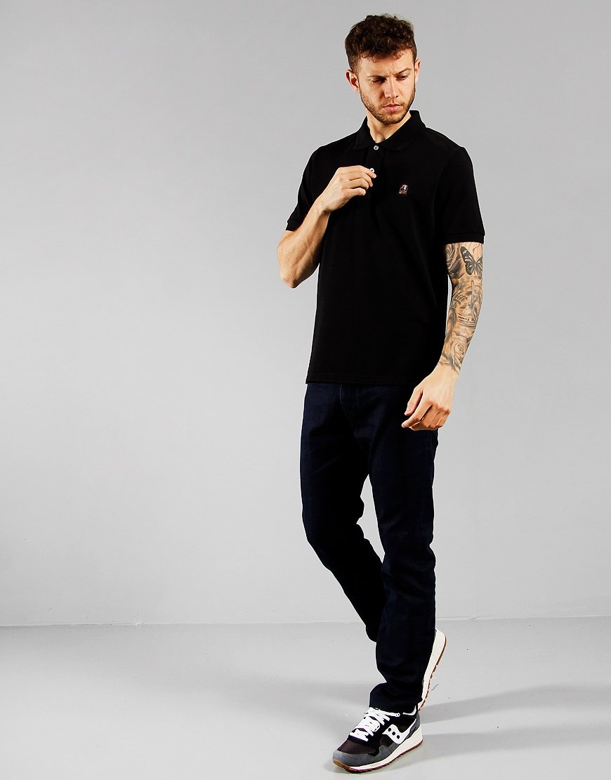 Parajumpers Patch Polo Shirt Black